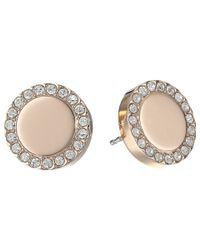 Fossil   Pink Glitz Metal Stud Earrings   Lyst