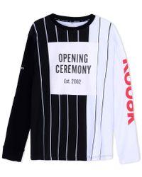 Opening Ceremony Black Long Sleeve T-shirt for men