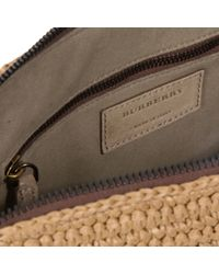 Burberry Blue Raffia And Leather Document Case for men