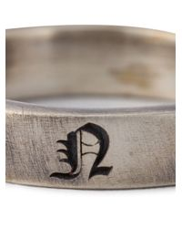Christian Dada   Metallic Initial Band Ring   Lyst