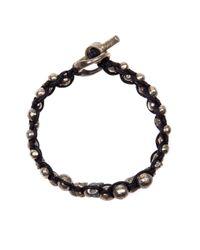 Tobias Wistisen | Metallic Twist Braid Bracelet for Men | Lyst