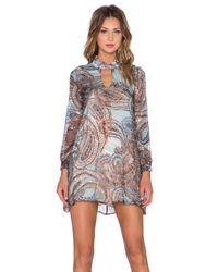 The LDRS Multicolor Burnout Paisley Mini Dress