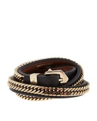 Givenchy | Black Three Row Chain Bracelet | Lyst