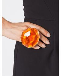 Monies | Orange Oversized Facet Ring | Lyst