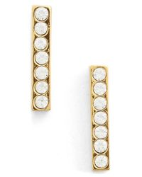 Kate Spade | Metallic 'dainty Sparklers' Pave Bar Stud Earrings | Lyst