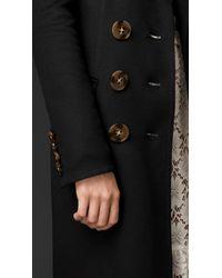 Burberry   Black Double Cashmere Coat   Lyst