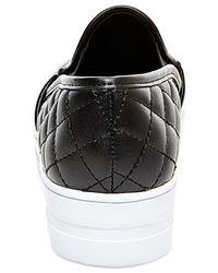 Madden Girl | Black Plaaya Quilted Flatform Slip-on Sneakers | Lyst