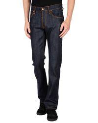 Nudie Jeans | Blue Denim Trousers for Men | Lyst