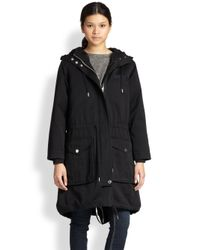 Marc By Marc Jacobs - Black Cotton Army Parka - Lyst