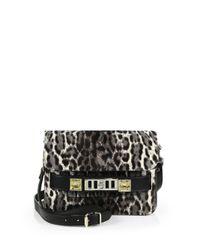 Proenza Schouler - Black Ps11 Mini Leopard-Print Calf Hair Satchel - Lyst