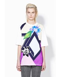 3.1 Phillip Lim - Multicolor Oversized Tee With Geo Floral Print - Lyst