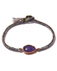Brooke Gregson | Blue Gold Orbit Rose Tanzanite Silk Bracelet | Lyst