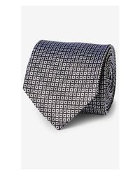 Express - Black Narrow Micro Print Tie -eastern Red for Men - Lyst
