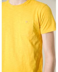 Woolrich Yellow Redwood Tshirt for men