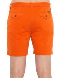 Burberry Brit Orange Slim-Fit Stretch-Cotton Chino Shorts for men