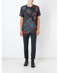 Marc Jacobs Black Patchwork Print T-shirt for men