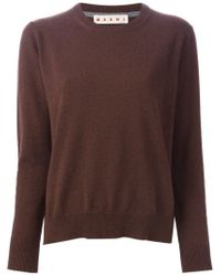 Marni - Brown Round Neck Sweater - Lyst