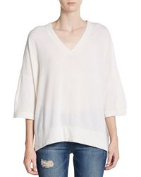 Vince | White Cashmere Caftan Sweater | Lyst