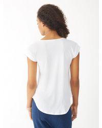 Alternative Apparel - White Perfect Cap Sleeve Top - Lyst