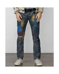 Denim & Supply Ralph Lauren   Multicolor Slimfit Splatter Jeans for Men   Lyst