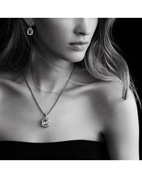David Yurman - Metallic Labyrinth Small Pendant With Diamonds - Lyst