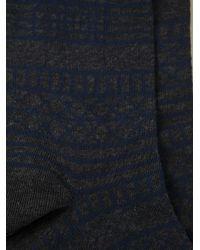 KENZO - Gray Patterned Socks for Men - Lyst