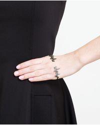 Gaydamak Black 'kardio' Diamond Hand Bracelet