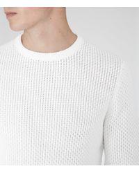 Reiss - White Rocket Textural Weave Jumper for Men - Lyst