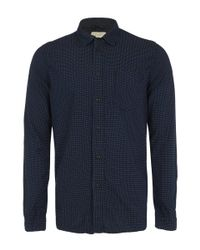 Nudie Jeans | Blue Indigo Henry Dark Dotted Shirt for Men | Lyst