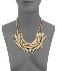 Saks Fifth Avenue - Metallic Spike Bib Necklace - Lyst