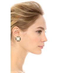 Holst + Lee - Black Hole Sun Earrings - White/gold - Lyst