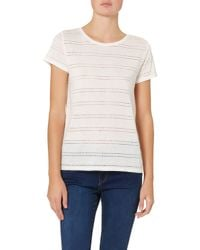 Soaked In Luxury - White T-shirt With Holey Pattern - Lyst