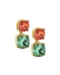 Kenneth Jay Lane - Pink Square-station Drop Earrings W/ Erenite - Lyst