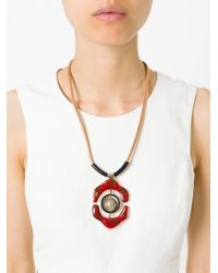 Marni - Natural Flower Pendant Necklace - Lyst