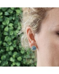 Irene Neuwirth | Blue Aquamarine Stud Earrings | Lyst