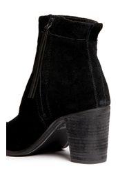 TOMS Black 'lunata' Suede Boots