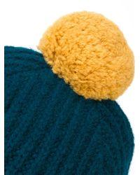 Paul Smith - Blue Pompom Beanie for Men - Lyst