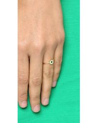 Holly Dyment - Green Mini Evil Eye Ring - Lyst