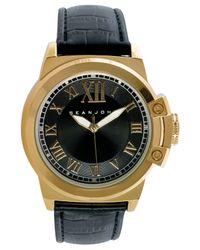 Sean John Men's Black Strap Watch 56x49mm 10021793 for men