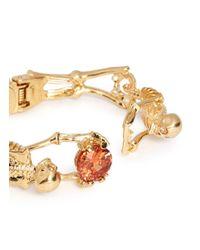 Alexander McQueen | Orange Skeleton Crystal Bracelet | Lyst