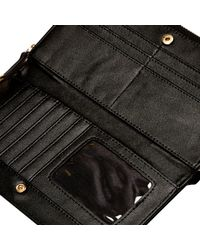 River Island - Black V-bar Zip Around Purse - Lyst