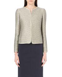 Armani | Metallic Linen-blend Jacket | Lyst