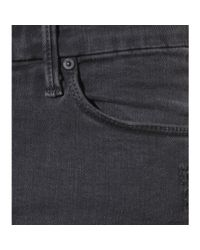 Mother Gray The Looker Ankle Fray Jeans