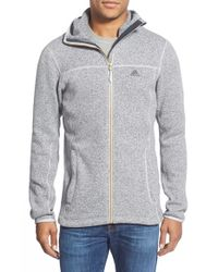 Adidas Gray 'hochmoos' Full Zip Polar Fleece Hoodie for men