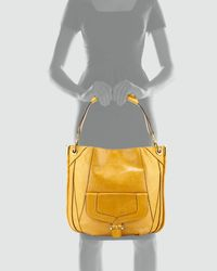 orYANY - Camilla Glazed Leather Hobo Bag Honey - Lyst