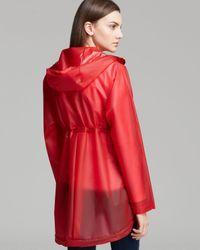 HUNTER Red Raincoat Original Clear Smock