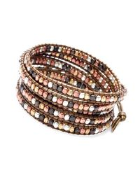 Nakamol - Multicolor Five Times Leather Wrap Bracelet-mix/bronze - Lyst