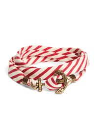 Brooks Brothers - Kiel James Patrick Red And White Seersucker Lanyard Hitch Cord Bracelet for Men - Lyst