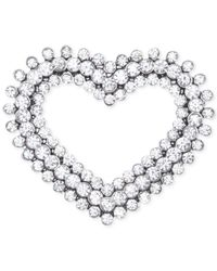 Jones New York | Metallic Silver-tone Open Heart Pin | Lyst