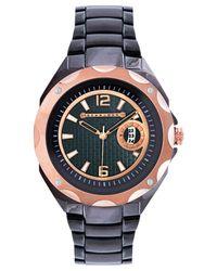 Sean John Metallic Men's Gunmetal-tone Bracelet Watch 52x45mm 10018038 for men